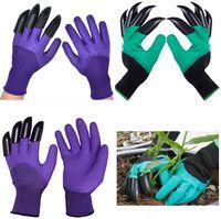 Водонепроницаемые садовые перчатки с когтями для женщин и мужчин садовые принадлежности на открытом воздухе выкапывание посадки сорок сорняки утолщенные защитные HH21-196