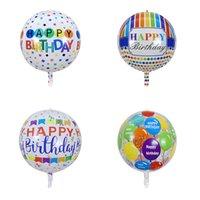 20 pouces de ballons flottants dans l'air joyeux anniversaire décoration de fête transparente 4D une variété de styles