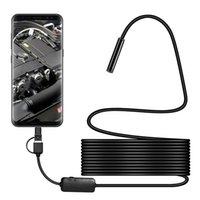 Android 8mm Micro USB Type-C Endoscope de l'endoscope C 3-en-1 Tube de borescope Inspection étanche Mini caméra caméra vidéo