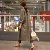 LANMREM Automne Casual Fashion Tempéramament Femme Veste Loose Plus Coton à poitrine unique Cardigan TC465 210818
