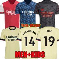 22 22 Arsen Soccer Jersey Away 424 Camisa Gunners Pepe Saka Thomas Willian Nicolas Fãs Versão Jogador Camisas de futebol 2021 2022 Homens Kids Meias 4ª Odegaard Uniformes