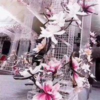 الزخرفية الزهور أكاليل 80 سنتيمتر رغوة كبيرة زهرة ماغنوليا موضوع تصميم تصميم وهمية خلفية الزفاف حزب الديكور عرض فلوريدا