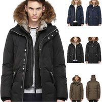 Canada Winter Warm Clothing Jackets Mac Edward-F4 Winter Down Bomber Jacket Thick Men's Down Jacket for Men Coat Male DHL Free