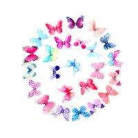 Doble cubierta Tres dimensiones Barertas Mariposa Retro Rhinestone Gauze DIY Clips de Pelo Accesorios Mujeres Horizales Moda Helidez 0 6YD N2