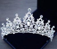 2021 Bling Crystal Strass Hochzeit Haarschmuck Tiara Schmückende Braut Krone Braut Kopfhaare Top Verkauf Kopf Zubehör DRS004