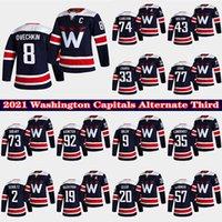 Washington Capitals 2020-21 Alternative Dritte Navy Jersey 8 Alex Ovechkin Henrik Lundqvist Nickla Backstrom Zdeno Chara Tom Wilson John Carlson