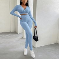Women's Tracksuits Autumn 2 Two Piece Sets Tracksuit Womens Outfits Long Sleeve Crop Top Pants Sweat Suits Women Matching