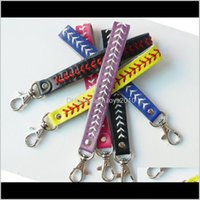Jewelry Aessories Baby, Kids & Maternity Drop Delivery 2021 Bassball Seam Keychains Pu Leather Football Woven Key Ring Sports Softball Keys H