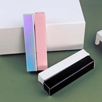 Dudak Parlatıcısı Tüp Şişe Kağıt Kutusu 21 * 21 * 121mm Pembe / Siyah / Beyaz Ambalaj Kozmetik Konteyner için