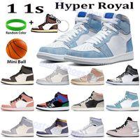 عالية أعلى 1 ثانية 1 أحذية كرة السلة hyper الملكي الذئب رمادي الشراع منتصف ميلانين تعتقد 16 ميتاليك الفضة توربو الأخضر الرجال النساء مصمم أحذية رياضية