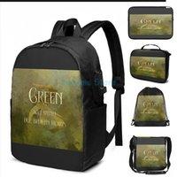 طباعة الأخضر سوف يشفي قلوبنا المكسورة لدينا. Shadowhunter childrens قافية usb تهمة حقيبة الرجال الحقائب المدرسية المرأة حقيبة كمبيوتر محمول