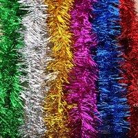 Oro plata alambre guirnalda oropel colgar ratán árbol de navidad cintas ornamentos decoración boda fiesta fiesta colorido cinta dhf8977