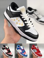 [سوار + الجوارب + المربع الأصلي] Supreme x Nk SB Dunk Low joint casual sports skateboard shoes OFF-WHITE x Nike Dunk Low x FL tripartite joint Dancing Bear