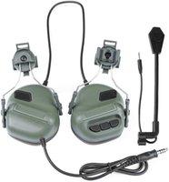 Тактические наушники стрельба защита уха защита звукового усиления шумоподавления уши MUFF для охоты CS шлем гарнитура