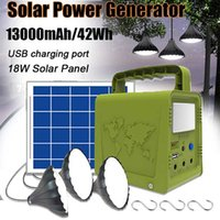 Solar Lamps 18W Panel Power Storage Generator Home System Kit 5V USB Charger Portable Outdoor Garden Lighting