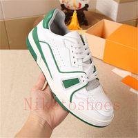 Sneakers Vintage Cole de veau blanc Chaussures pour hommes 54 Semelle Semelle en caoutchouc Runner Green Formateur Designers Sneaker Sports de plein air Sports Casual Shoe