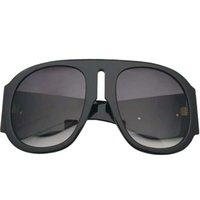 Venda quadrada óculos de sol mulheres 2021 luxo 0152 Composit a marca negra homens moda steampunk térmico sol vidros com câmera