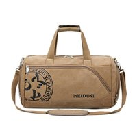 Storage Bags Vintage Sports Travel Men Canvas Luggage Hand Crossbody Bag Large Casual Durable Printing Shoulder Shoe Pack