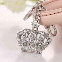 Niemand Null der neuesten Krone Mode Nizza Rhinestone Kristall Charme Geldbörse Hinter Key Anhänger