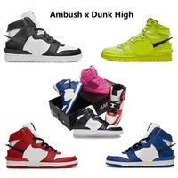 Ambush x Nike Dunk High SB Dunk High Flash Lime CU7544-300 Zapatillas para correr DUNKS CU7544-400 Deep Royal Blue Cosmic Fuchsia Black White hombre mujer zapatillas deportivas