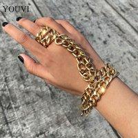 Punk Long Tassel Cross Men Bracelets Bangle Goth Unique Vintage Chain Pendant Bracelet For Women Handwrist Jewelry Link,