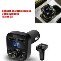 X8 FM Transmetteur AUX Modulateur Bluetooth Handfree Car Kit de voiture Audio Lecteur MP3 avec 3.1A Charge rapide Dual USB Chargeur de voiture Accessoire MQ30