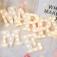 3D LED Night Lights 26 Letter 0-9 Digital Marquee Sign Alphabet Light Wall Hanging Lamp Indoor Decor Wedding Party