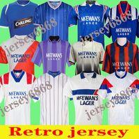Glasgow Rangers Retro Soccer Jerseys 1984 87 90 92 93 94 95 96 97 99 95 96 96 97 99 2001 02 03 Home Blue Away Vintage Camicia da calcio Classic Camicia da calcio Uniformi