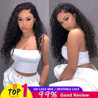 Lace Wigs 250 Density Human Hair Water Wave Front Wig Hd Transparent Frontal For Women