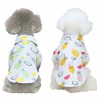 كلب t-shirt الصيف رقيقة الملابس الفاكهة طباعة جرو تنورة الملابس الأميرة سترة ل poodle، تيدي، تشيهواهوا S-XXL الملابس