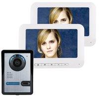 Zoll TFT 2 Monitore-Video-Türtelefon Türklingel-Intercom-Kit 1-Kamera 2-Monitor-Nachtsicht mit IR-Cut HD 700TVL-Kameras-Telefone