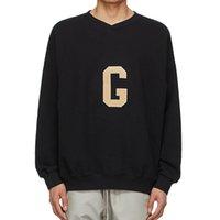7-й воровня G бейсбольная толстовка черный седьмой свитер пуловеры повседневные негабаритные перемычки мужчины женщин хип-хоп уличная одежда MG210071