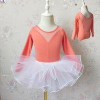 Stage Wear Toddler Girls Gymnastics Leotard Ballet Tutu Dance Dress Kids Swan Lake Ballerina Fluffy Tulle Competition Skirts