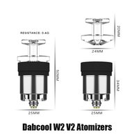 Authentic DABCOOL W2 V2 Enail Upgraded Atomizer Hookah Wax Replacement Concentrate Coil Heat Tank Budder Dab Rig Vape Kit 100% Genuine Vs V1