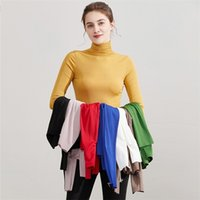Winter Turtleneck Warm Women Sweater High Neck Knitted Elasticity Pullovers Fall Autumn Tight Jumper Top 210512