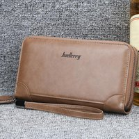 Wallets Men Double Zipper Leather Wallet Coin Purses Fashion Long Male Clutch Bag With Phone Pocket Carteira Business Pu
