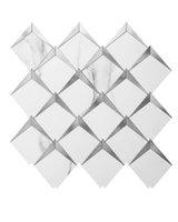 Art3d 6-sac 3D Duvar Çıkartmaları Kendinden Yapışkanlı Elmas Mozaik Kabuğu Ve Sopa Backsplash Fayans Mutfak Banyo, Duvar Kağıtları (26.4x26.4cm)