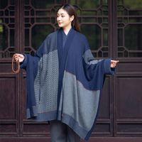 Ethnic Clothing Miao Yan Xin Kong Meditation Design Zen Meaning Baina Multi-purpose Shawl Legging Blanket Dual-purpose
