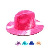 2021 Moda Renkli Unisex Düz Ağız Yün Keçe Caz Fedora Şapka Erkekler Kadınlar Panama Örgün Şapkalar Sonbahar Kış