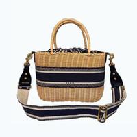 2021 أكياس الأزياء من حقيبة سلة الخوص النساء مع حقائب اليد للسيدة