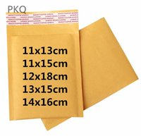 Gift Wrap 10pcs lot Small Kraft Paper Bubble Bag Yellow Mailers Padded Envelope Bags Packaging Moisture Proof