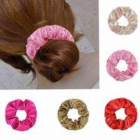 2020 Mode Scrunchie Stirnbänder Leder aus dem gefälschten Plutonium Haarband für Frauen Pferdeschwanzhalter String Headwear Hair