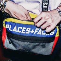 Места + Лица Пакет Streetwear Повседневная классическая Светоотражающие Сумки Crossbody Hip Hop Satchle рюкзак