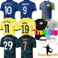 21 22 كرة القدم الفانيلة CFC كرة القدم قميص Lukaku Kante Giroud Pulisic Man Werner Mount Ziyech Lampard Kids Haverz Kit T. Silva Abraham Set Chilwell Training