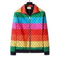 2021 Hommes Designer Jacket Striché Slim Print Pocket Poche Vestes Casual Baseball Vestes Zipper Sweats à capuche Manteaux P-9