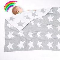 Decken Swaddling G2AD 70x90cm Backbaby Gestrickte Baumwolle Decke Schlafende Kinderwagen Swaddle Wrap Kinder Säuglinge Bettwäsche Bettwäsche