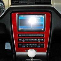 Autocollant en fibre de carbone Central Navegation Control Panneau de CD Garniture Décoration d'intérieur Autocollants automobiles pour Ford Mustang 2009-13
