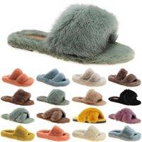 luxury women shoes slides slippers womens sandals black white grey slide slipper flat flip flops size 35-40 color9