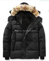 Kış Parka Homme Jassen Chaquetas Giyim Kurt Kürk Kapüşonlu Fourrure Manteau Wyndham Kanada Aşağı Ceket Ceket Hiver Doutoune