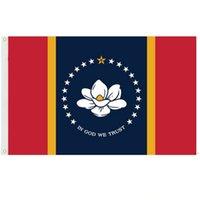 In Gott vertrauen wir Vertrauen von Mississippi State Flag 3x5ft Banner 150x90cm Polyester Messing-Tüllen HWF6129